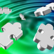 Abstract puzzles - Stock Photo