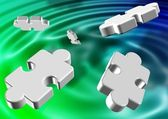 Abstract puzzles — Stock Photo