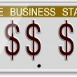 Dollar license plates — Stock Photo