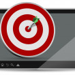 Tablet target — Stock Photo