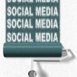 Social media roller brush - Stock Photo