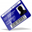 Student ID card — Stock Photo #21094757