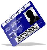 Student ID card — Stock Photo