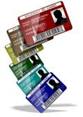 Student ID cards — Stock Photo
