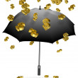 Raining dollars — Stock Photo