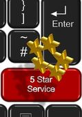 Online 5 star service — Stock Photo
