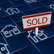 Sold real estate - Foto Stock