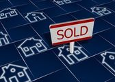 Sold real estate — Stock Photo
