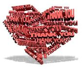 Thank you from heart — Stock Photo