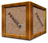 Fragile wooden box — Stock Photo