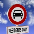 Stock Photo: Residents only