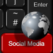Stock Photo: Social network keyboard