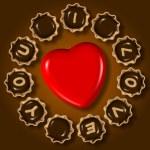 我爱你巧克力 — 图库照片