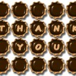 Thank you chocolate — Stockfoto