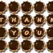 图库照片: Thank you chocolate
