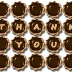 谢谢你巧克力 — 图库照片