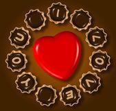 I love you chocolate — Stock Photo