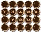 Thank you chocolate — Stock Photo