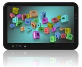 Apps on tablet — Stock Photo