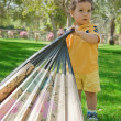 Young boy on a playground — Stock Photo