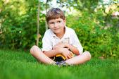 A boy with a ball — Stock Photo