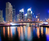 Dubai Marine Skyline — Stock Photo