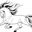 Vector image of an horse on white background — Stock Vector