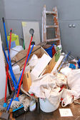 Cleaning mess — Stock Photo