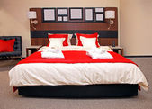 Modern bedroom detail — Stock Photo