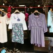 Vintage clothes market - Stock Photo