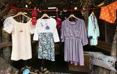 Vintage clothes market — Stock Photo