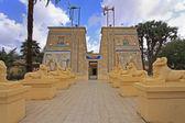 Ingang van de tempel — Stockfoto