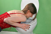 Vomiting — Stock Photo