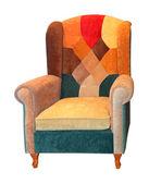 Patchwork armchair — Stock Photo