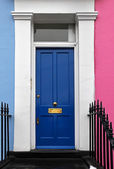 Dark blue door — Stock Photo