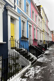 Pastel houses street — Stock Photo