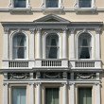 White facade — Stock Photo