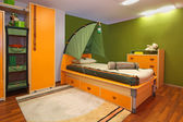 Green child bedroom — Stock Photo