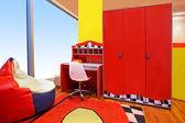 Red children room — Stock Photo