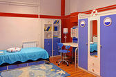 Blue child bedroom — Stock Photo