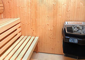 Home sauna — Stock Photo