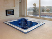 Floor hot tub — Stock Photo