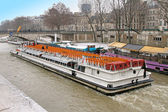 Paris tour boat — Stock Photo