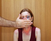 Silenced woman — Stockfoto