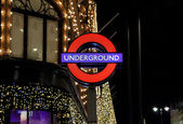 Underground stret sign — Stock Photo