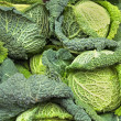 Savoy cabbage pile — Stock Photo