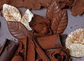 Chocolate cake decoration — Stock Photo