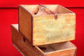 Dřevěné bedny — Stock fotografie