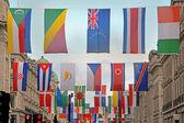 Världens flaggor — Stockfoto