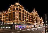 Harrods night — Stock Photo